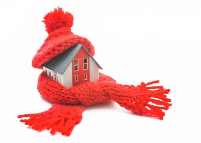 Froid - Maison avec foulard