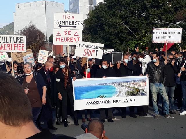 Nice - 14 novembre 2020 - Manifestation anti-confinement (1)