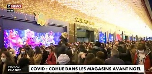 Cohue magasins Covid consommation