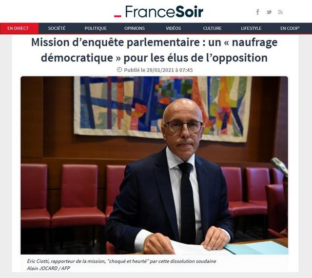 France-Soir 29 janvier 2021 - Ciotti