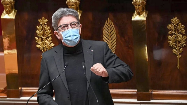Jean-Luc Mélenchon - masque