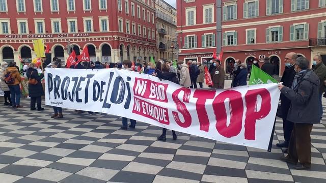 Manifestation Nice 30 janvier 2021 - Bio-éthique