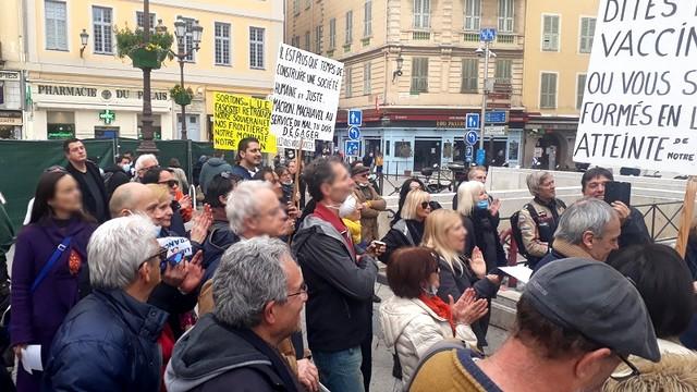 Manifestation Nice 30 janvier 2021 - Dictature sanitaire