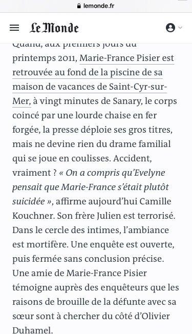 Marie-France Pisier - Suicide
