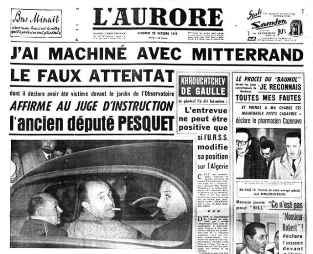 Mitterrand - Faux attentat