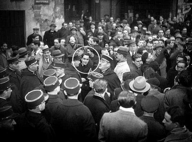 Mitterrand - Manifestation 1935 contre étrangers