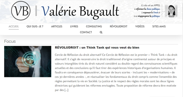 Site internet - Valérie Bugault