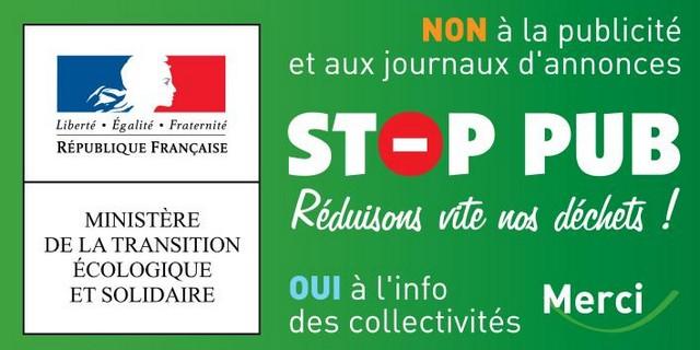 Stop pub - Ministère Transition Écologique