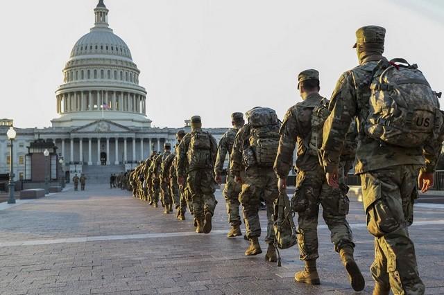 Washington - Intronisation Biden - État de siège
