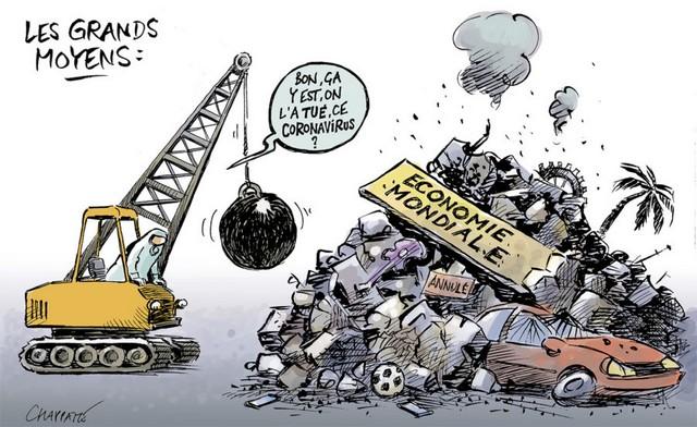 Caricature Chappatte - Covid - Économie