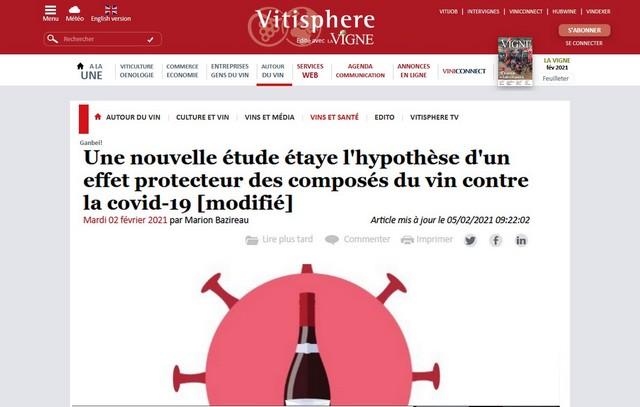 Effet protecteur vin Covid