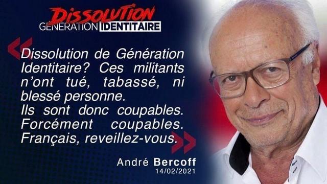 Génération Identitaire - Dissolution - André Bercoff