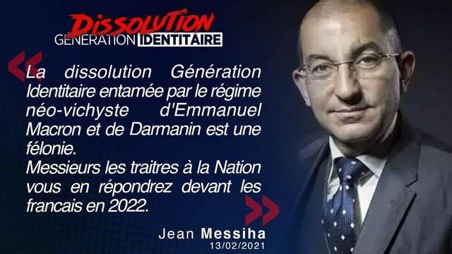 Génération Identitaire - Dissolution - Jean Messiha