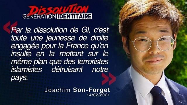 Génération Identitaire - Dissolution - Joachim Son-Forget