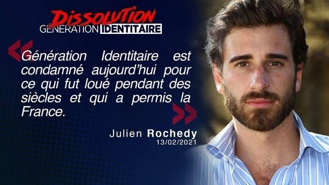 Génération Identitaire - Dissolution - Julien Rochedy