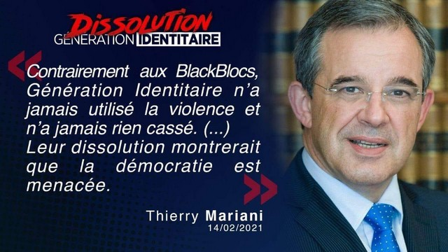 Génération Identitaire - Dissolution - Thierry Mariani