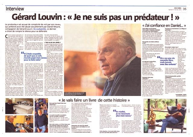 Nice-Matin 13 février 2021 - Gérard Louvin prédateur sexuel
