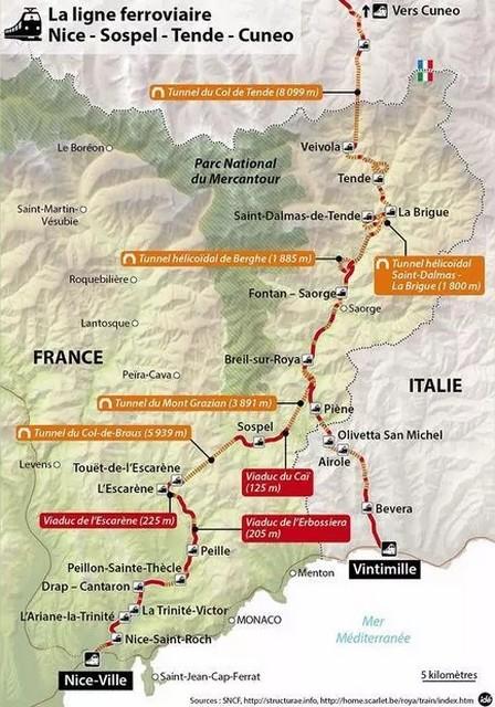 Train Nice-Cuneo - Vallée Roya