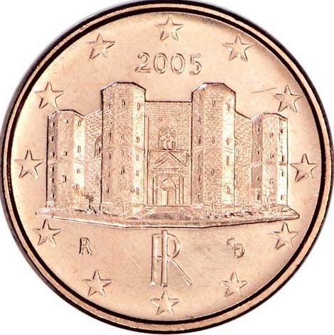 Pièce 1 centime euro - Castel del Monte