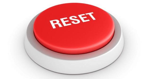 Bouton Reset détouré