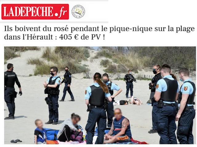 La Dépèche - Rosé pique-nique plage Héraul