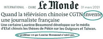 Le Monde - Laurène Beaumond - Journaliste