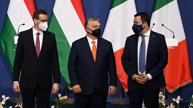 Mateusz Morawiecki - Viktor Orban - Matteo Salvini