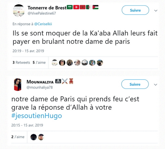 Unef tweets - Incendie Notre-Dame