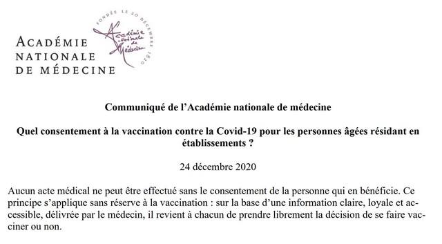 Consentement vaccination