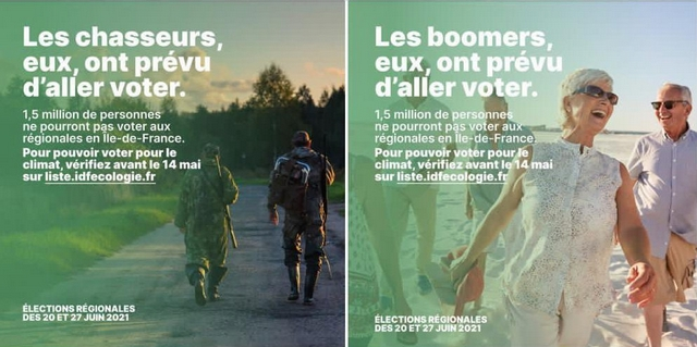 EELV - Affiche -Aller voter