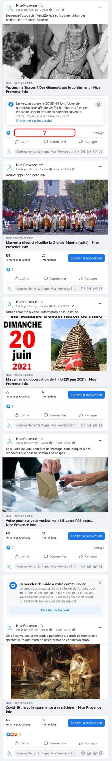 Censure Facebook - 21 juin 2021