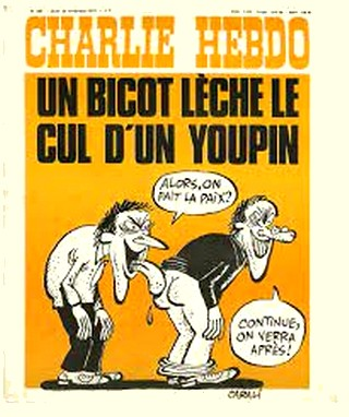 Charlie Hebdo - Bicot lèche cul youpin