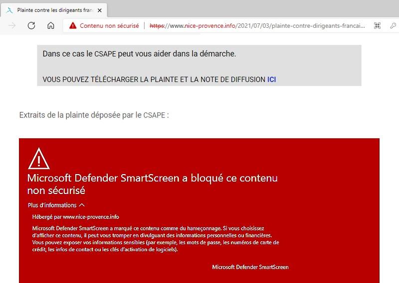 Censure Microsoft