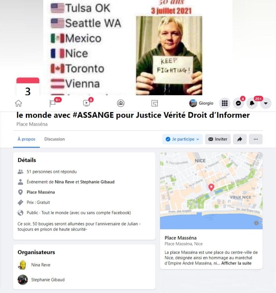 Événement Facebook - Julian Assangejpg