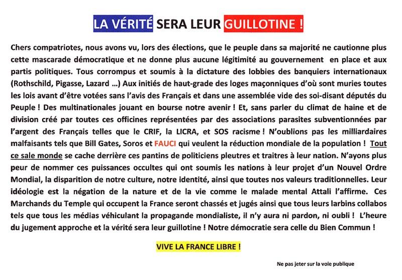 Gilets Jaunes - Tract 3 juillet 2021