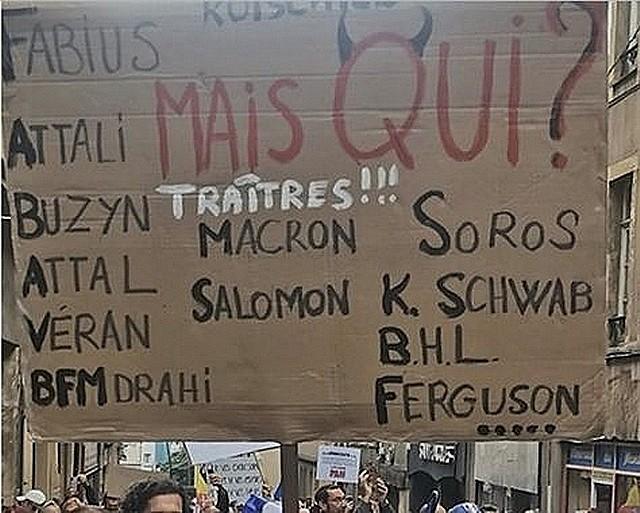 Anti-pass Metz - Pancarte antisémite