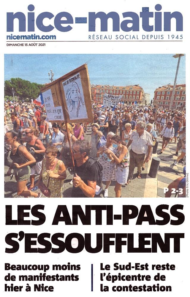 Nice-Matin - 15 août 2021 - Antipass