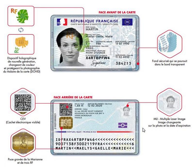 Nouvelle carte identité nationale