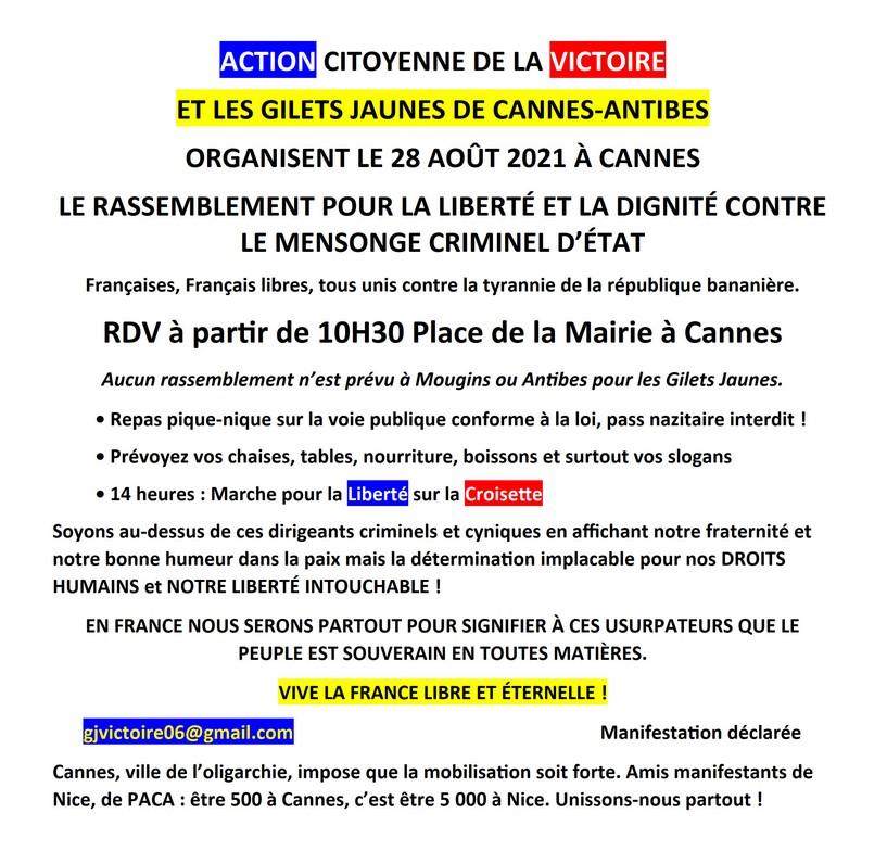 Rassemblement Cannes - 28 août 2021